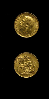 British Gold Sovereign of King George V