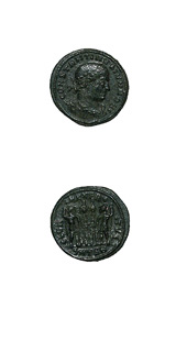 Bronze Coin of Constantine II Struck While Caesar