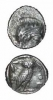 Philisto-Arabian Silver Drachm From Gaza Imitative of Athens