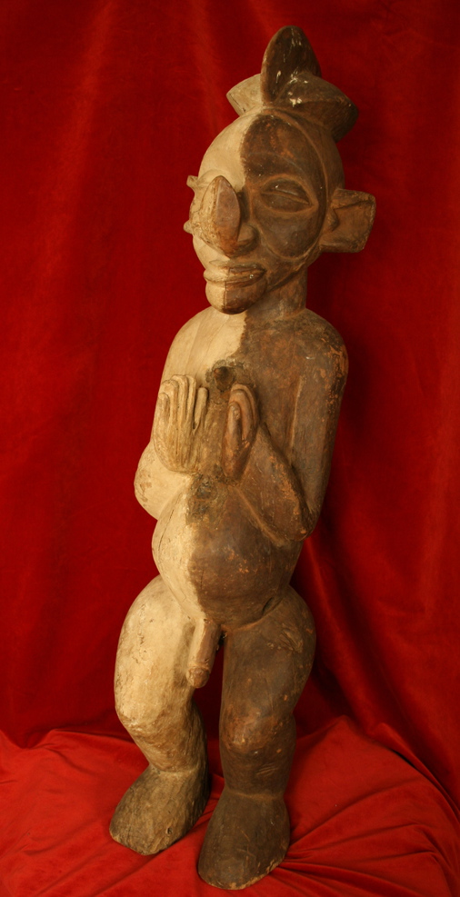 Yaka Wooden Sculpture of a Man