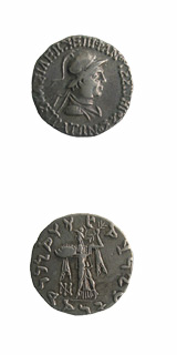 Indo-Greek Silver Tetradrachm of King Strato I