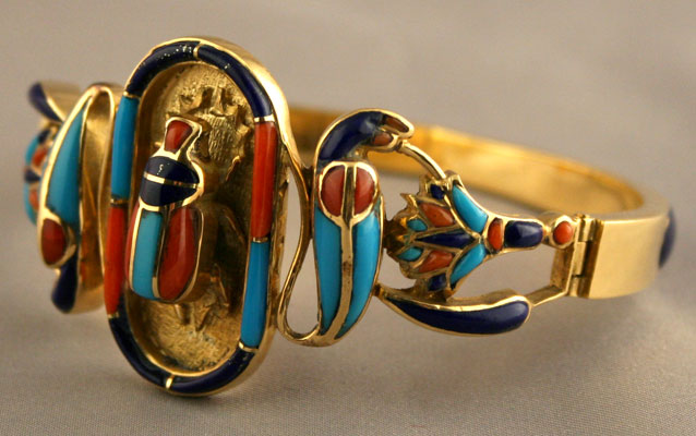 Gold Bracelet in the Style of Tutankhamun