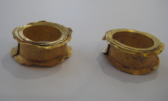 A Pair of Bactrian Gold Earspools