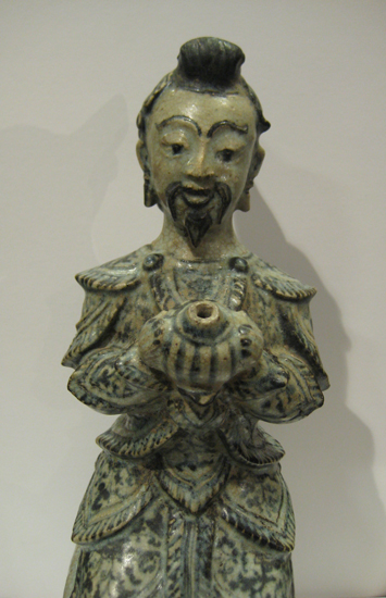 Sawankhalok Figure of a Seated Chinese Man