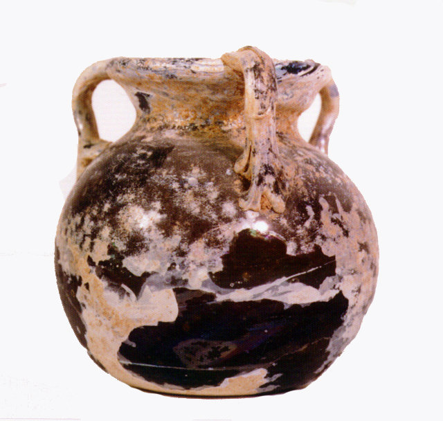 Roman Glass Jar with Three Handles