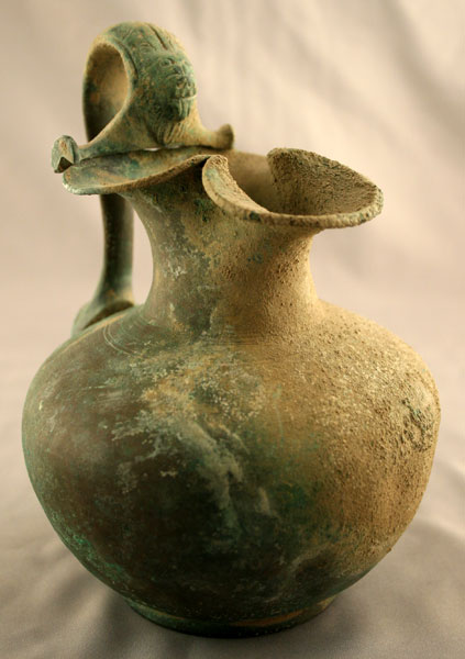 Greek Bronze Trefoil Lipped Oinochoe