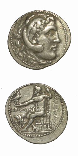 Carian Silver Tetradrachm of Alexander the Great