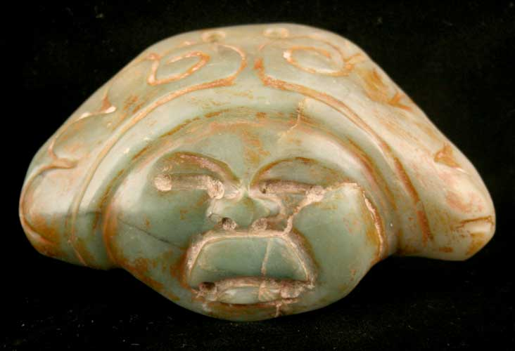Olmec Jade Pendant Depicting a Face