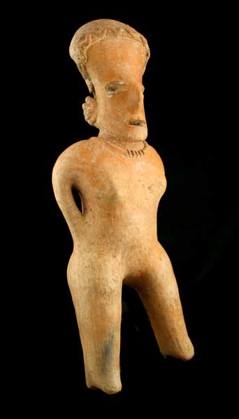 San Sebastián Style Nayarit Terracotta Sculpture of a Standing Woman