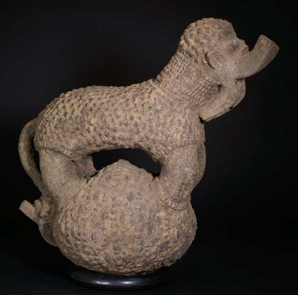 Mambila Terracotta Vessel in the Form of an Animal