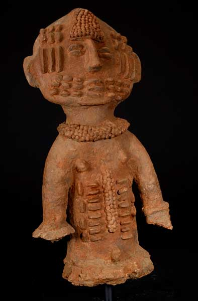 Highly Decorated Bura Terracotta Figure