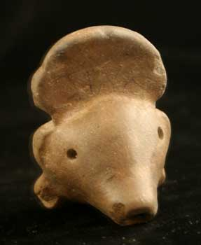 Mayan Terracotta Whistle in the Form of a Figure