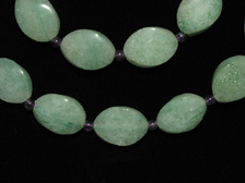 Aventurine Bead and Amethyst Bead Necklace
