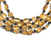 Citrine and Hematite Bead Necklace