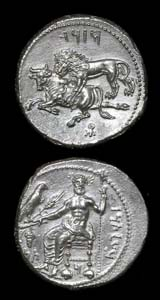 Cilician Silver Stater Struck Under the Satrap Mazaios
