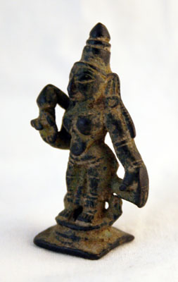 Chola Small Bronze Sculpture of a Goddess
