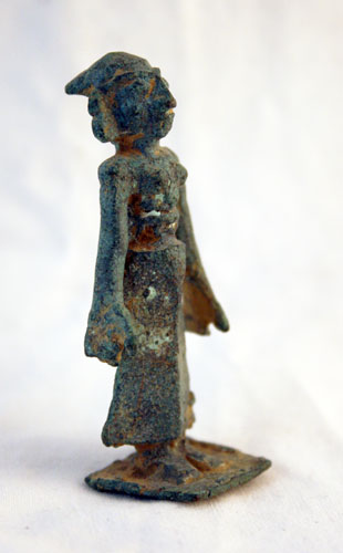 Kushan Bronze Sculpture of a Standing Woman