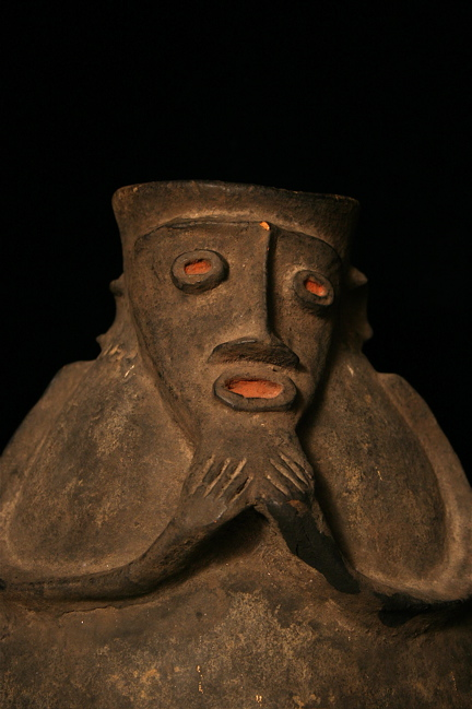 Kaka or Mambila Terracotta Anthropomorphic Vessel