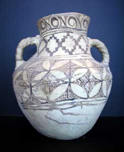 Mavera al-Nahr or Khurasan Large Slip-Painted Terracotta Vessel