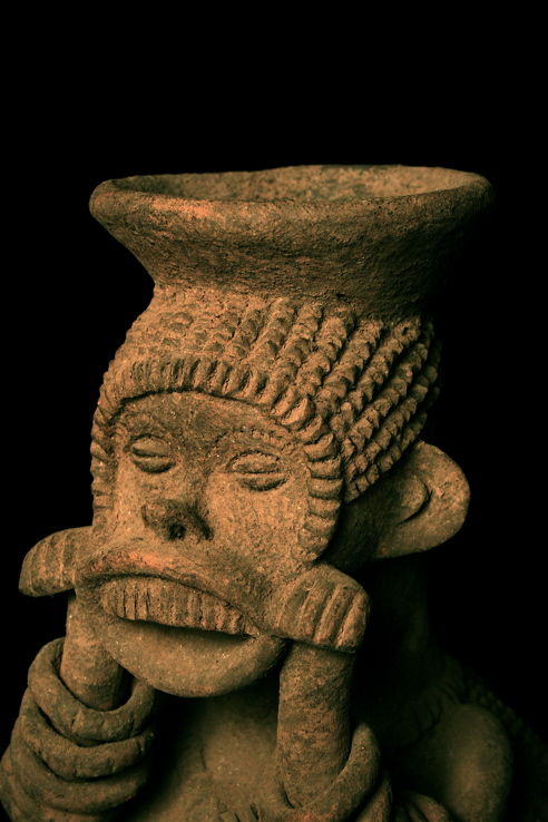 Mambila Terracotta Anthropomorphic Vessel