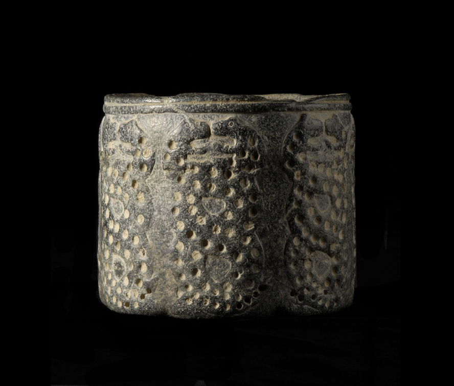 Cylindrical chlorite vessel in the Intercultural Style