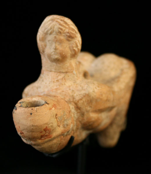 Roman Oil Lamp in the Form of an Ithyphallic Man