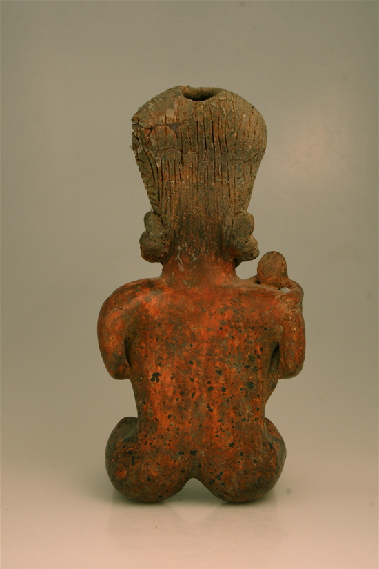 San Sebastián Style Nayarit Terracotta Sculpture of a Woman Holding a Child