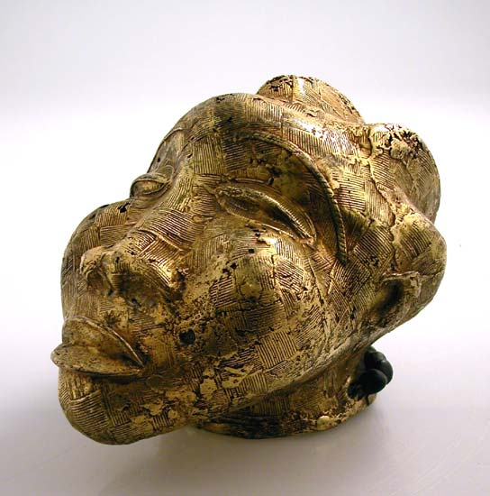 Akan Gold Sculpture of a Head