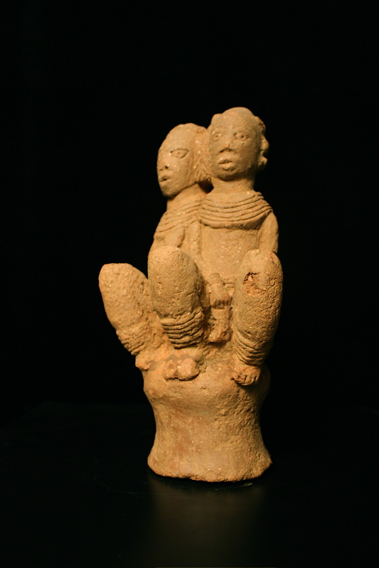 Nok Sculpture of Siamese Twins