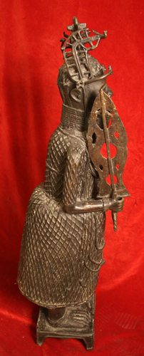 Benin Style Bronze Sculpture of an Oba
