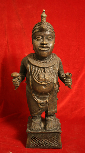 Ife Style Bronze Sculpture of King