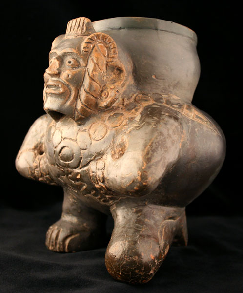 Toltec Plumbate  Vessel in the Form of a Hunchback