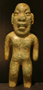 Olmec Style Jade Sculpture of a Were-Jaguar
