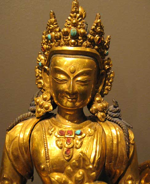 Tibetan Gilt Bronze Figure of Amitayus