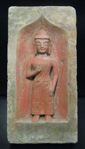 Northern Wei Brick from a Buddhist Shrine