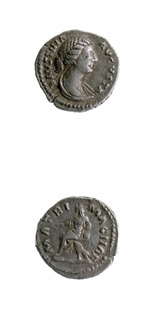 Silver Denarius of the Empress Faustina Junior