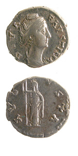 Silver Denarius of Empress Faustina Senior Issued Posthumously