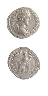 Silver Denarius of Emperor Commodus