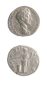 Silver Denarius of Commodus Struck While Caesar
