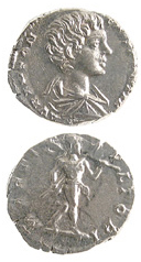Silver Denarius of Caracalla Struck While Caesar