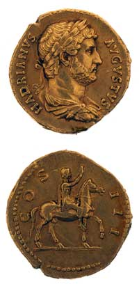 Roman Aureus Depicting Emperor Hadrian