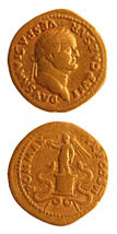 Gold Aureus of Emperor Vespasian