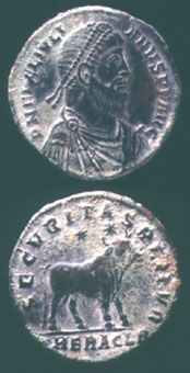 Bronze Coin of Emperor Julian the Apostate