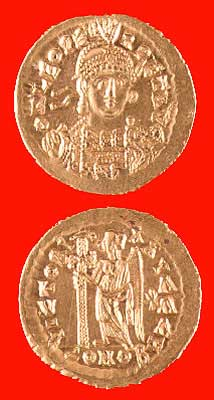 Byzantine Gold Coin of Emperor Leo II