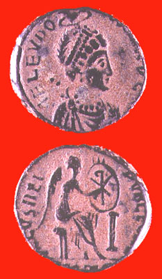 Bronze Coin of Empress Aelia Eudoxia