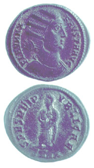 Bronze Coin of Empress Fausta