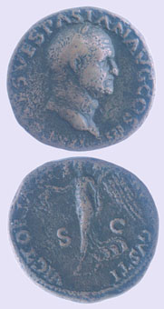 Bronze Coin of Emperor Vespasian