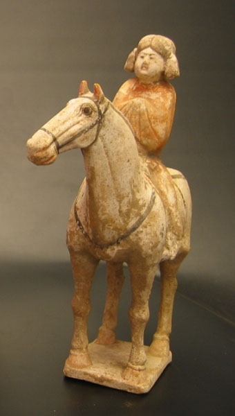 Tang Polychrome Horse with Fat Lady