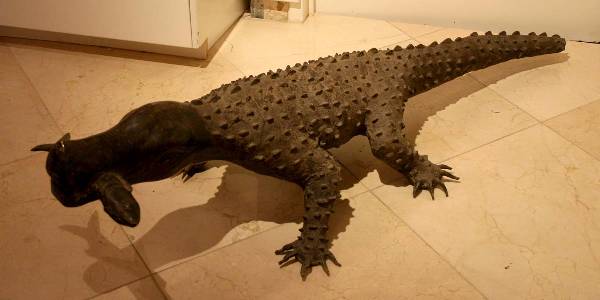 Asante Large Bronze Crocodile