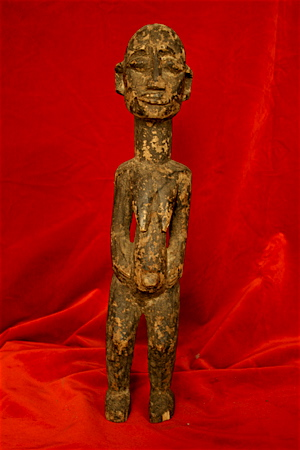Lobi Wooden Sculpture of a Standing Woman